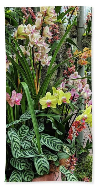 Plentiful Orchids Beach Towel