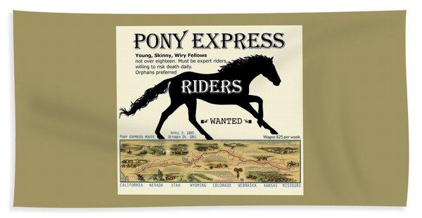 Pony Express Want Ad Beach Towel