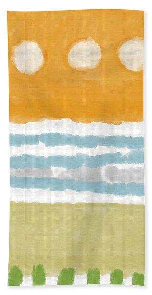 Poolside 2- Art By Linda Woods Beach Towel