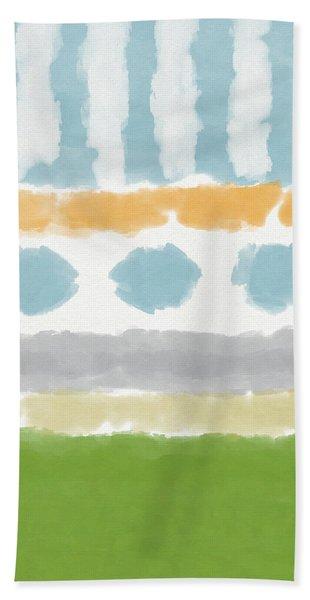 Poolside 3- Art By Linda Woods Beach Towel