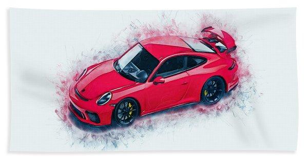 Porsche 911 Art Beach Towel