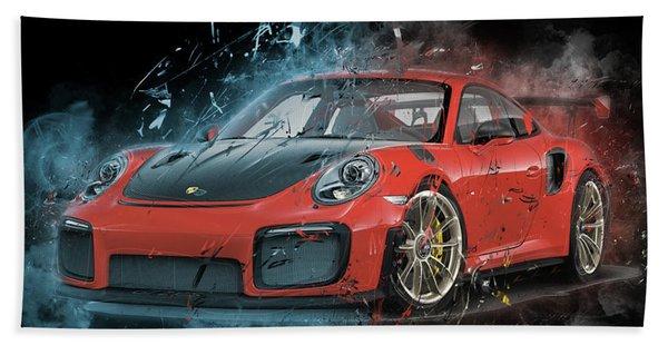 Porsche 911 Gt2 Beach Towel