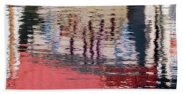 Port Reflections Beach Towel