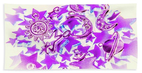 Purple Planetarium Beach Towel