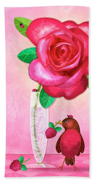 R Is For Rose And Robin Beach Sheet