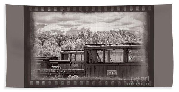 Railroad Cars Beach Towel