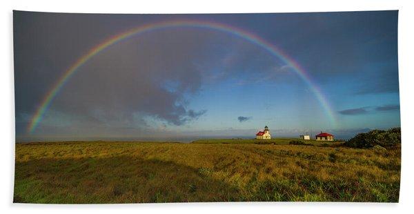Rainbow At Point Cabrillo Beach Towel