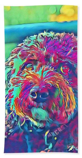 Rainbow Pup Beach Towel