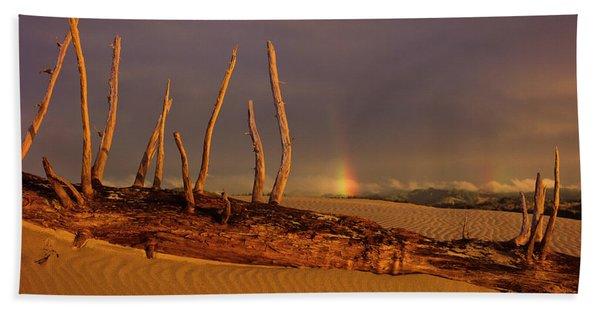 Rainy Day Dunes Beach Towel