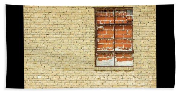 Red Brick Window  Beach Sheet
