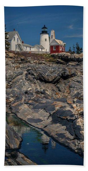 Reflecting On Pemaquid Light Beach Towel