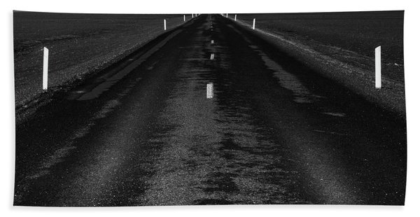 Road One, Iceland Beach Towel