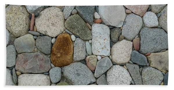Rock Wall Pattern Beach Towel
