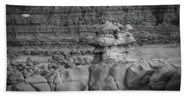 Rocky Desert Formation Beach Towel