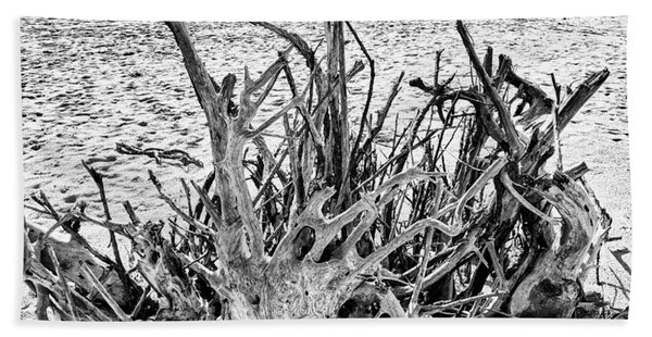 Rooted In Black And White Beach Towel