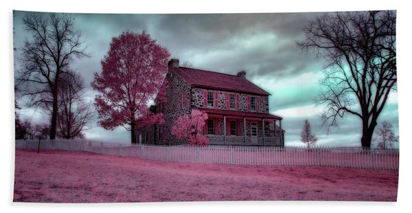 Rose Farm In Infrared Beach Towel