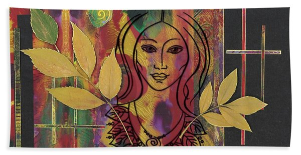 Sacred Heart Beach Towel