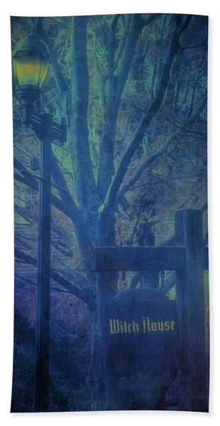 Beach Towel featuring the photograph Salem Massachusetts  Witch House by Jeff Folger