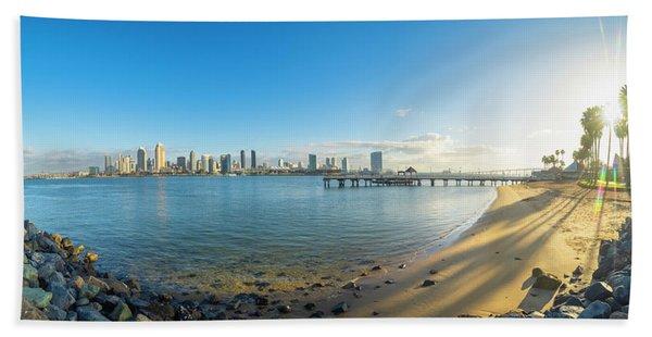 San Diego Bay - Panorama Beach Towel