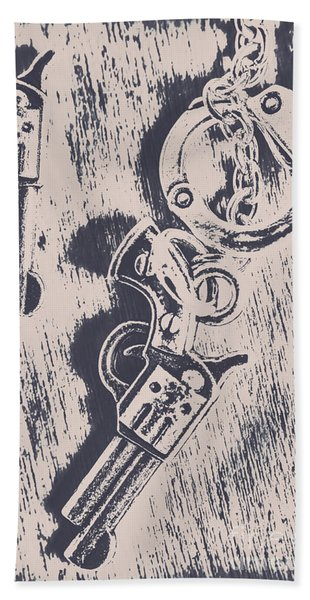 Shackled To The Law Beach Towel