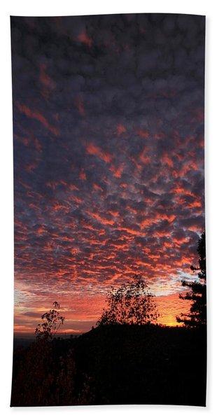 Beach Towel featuring the photograph Sierra Skies by Sean Sarsfield