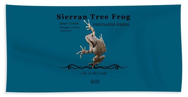 Sierran Tree Frog Pseudacris Sierra Beach Towel