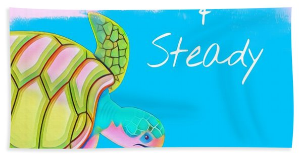 Slow And Steady Beach Towel