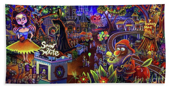 Snow White Amusement Park Beach Sheet