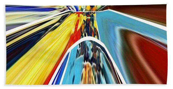 Beach Towel featuring the digital art So Far Away by A zakaria Mami