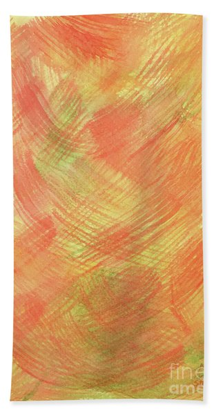 Soft Orange Colors 2 Beach Towel