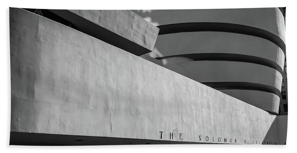 Beach Towel featuring the photograph Solomon R Guggenheim Museum by Michael Hope