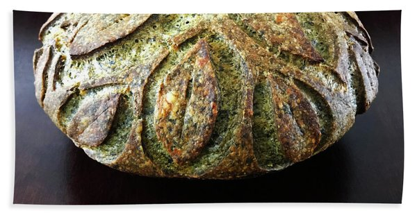 Spicy Spinach Sourdough 2 Beach Towel