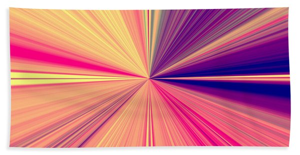 Starburst Light Beams In Abstract Design - Plb457 Beach Sheet