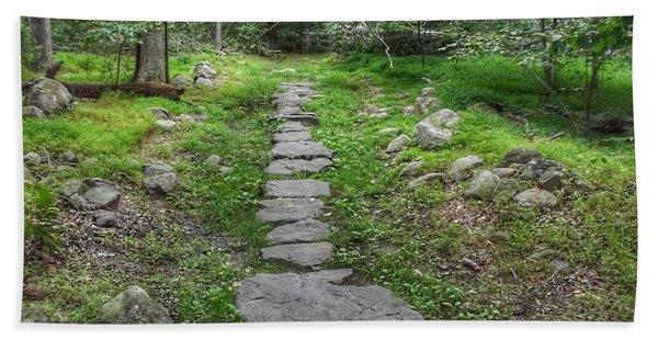Stepping Stone Path - Kinnelon Beach Towel