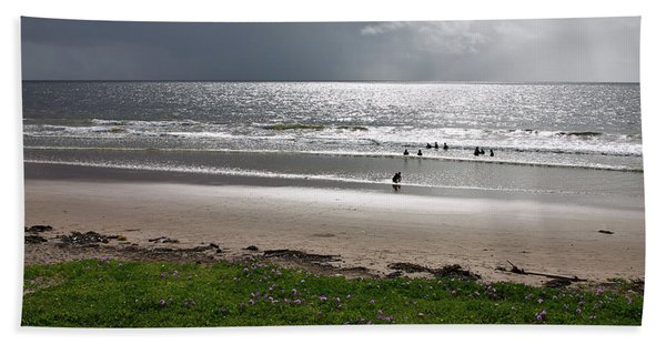Storm Brewing Over The Sea Beach Towel