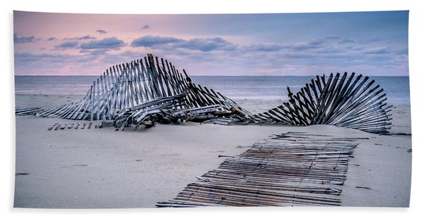 Storm Fence Sunrise Beach Towel