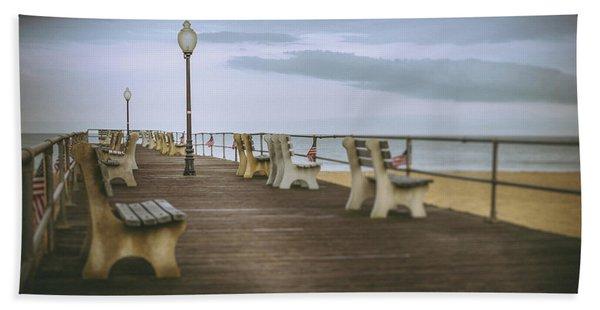 Stormy Boardwalk 2 Beach Towel