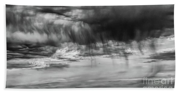 Stormy Sky In Black And White Beach Towel