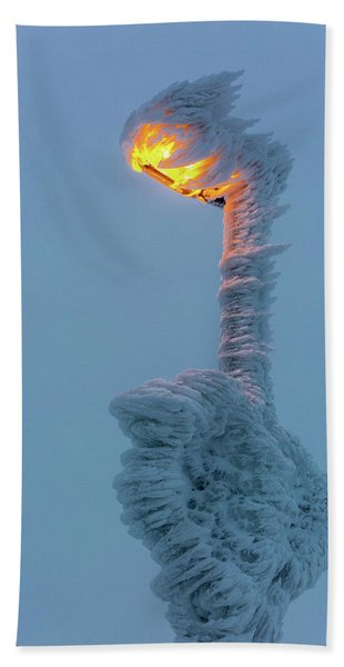streetlight on the Brocken, Harz Beach Towel