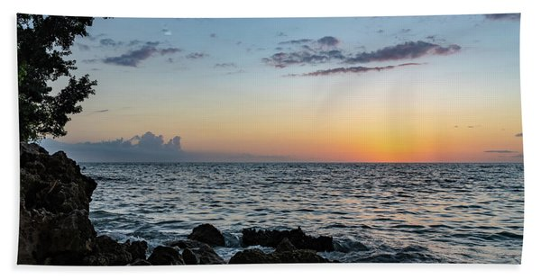 Sunset Afterglow In Negril Jamaica Beach Towel