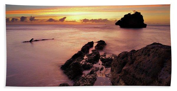 Sunset At Columbus Bay Beach Towel