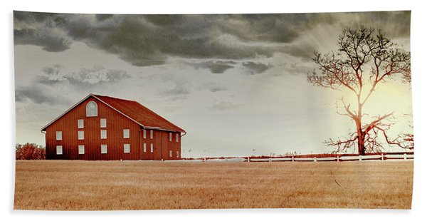Sunset Barn Beach Towel