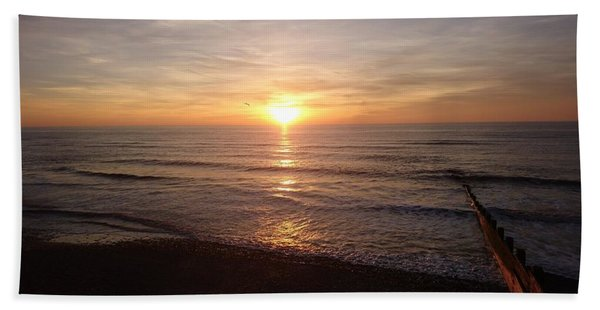 Sunset Blackpool Beach Towel