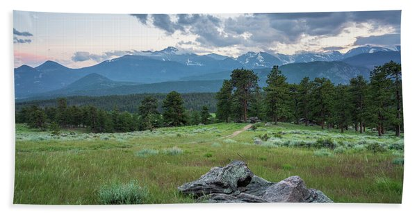 Sunset In Rocky Mountain National Park  Beach Towel