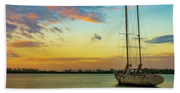 Sunset On The Lagoon Beach Towel