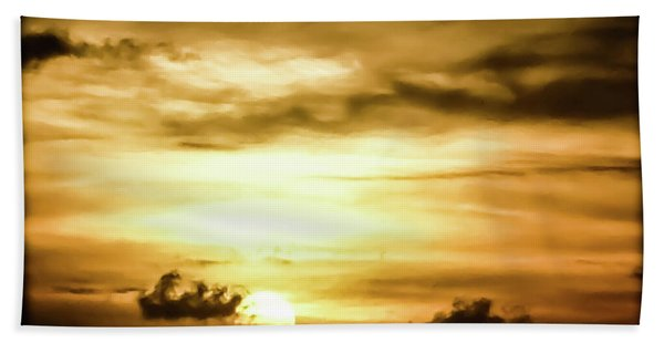 Sunset On The Pacific Ocean Beach Towel