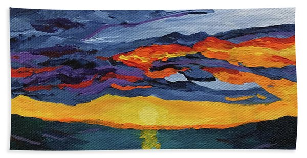 Sunset Streak Beach Towel