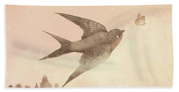 Sunset Swallow Beach Towel