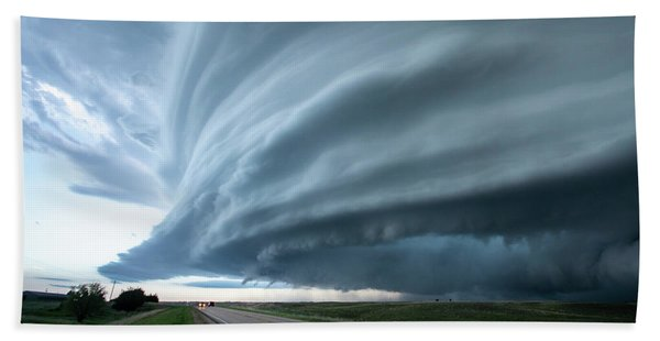 Super Storm Beach Towel