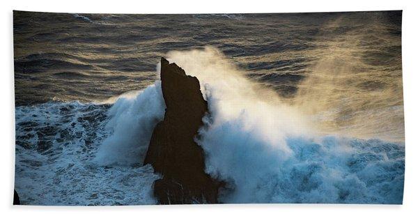 Surf At Sunset Beach Towel
